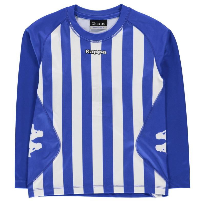 Tričko Kappa Barletta Long Sleeve T Shirt Junior Boys NAUTIC BLUE/WHI