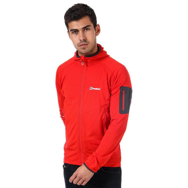 Berghaus Mens Pravitale Light 2.0 Hooded Fleece Jacket Red