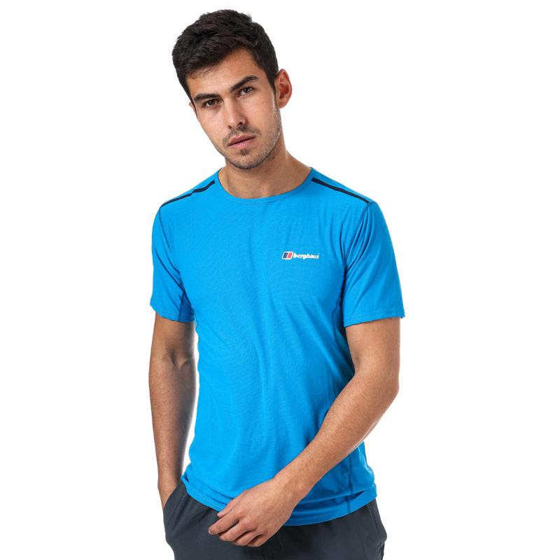 Tričko Berghaus Mens Super Tech Base Crew T-Shirt Light Blue