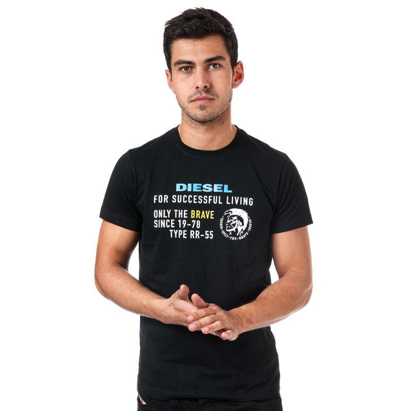 Tričko Diesel Mens T-Diego-XB T-Shirt Black