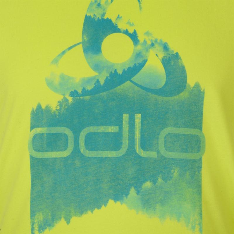 Tričko Odlo Logo T Shirt Mens Lime