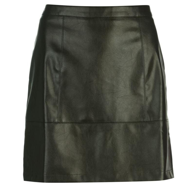 Sukně Rock and Rags PU Shine Skirt Khaki