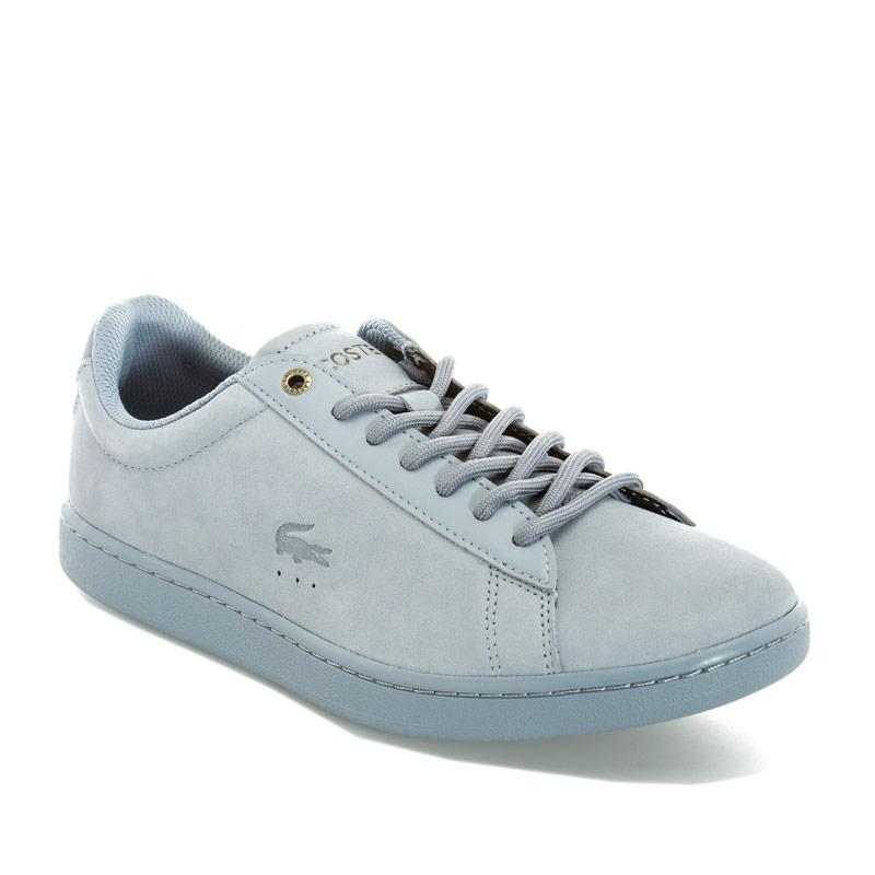 Lacoste Womens Carnaby Evo Nubuck Trainers Blue