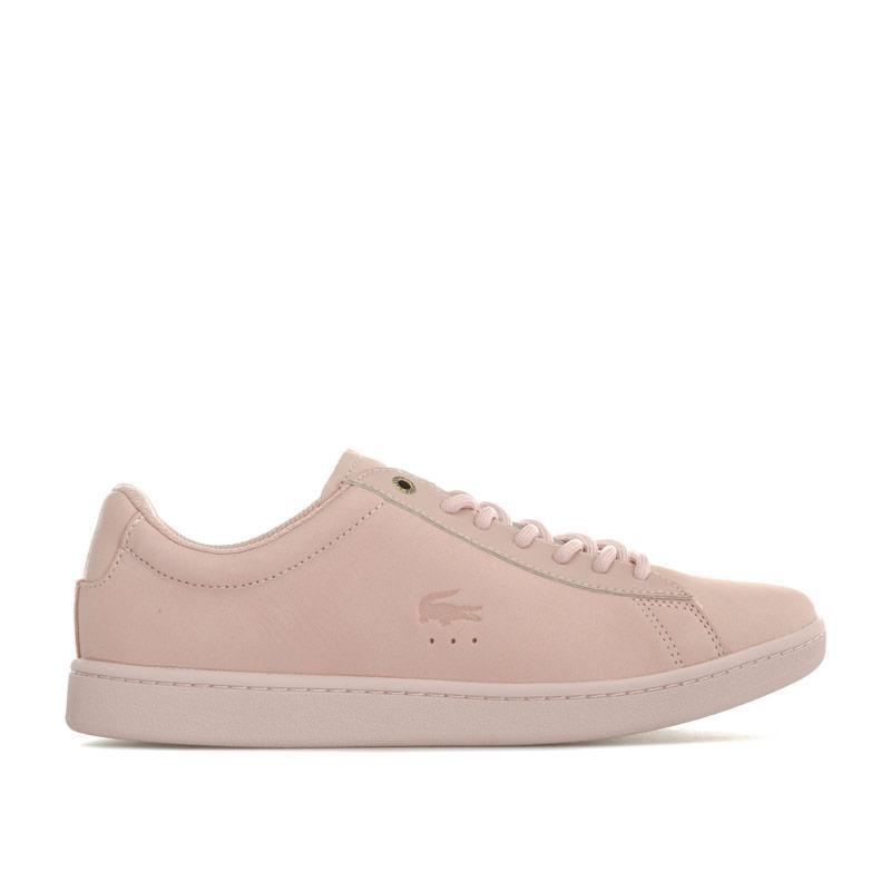 Lacoste Womens Carnaby Evo Nubuck Trainers Pink