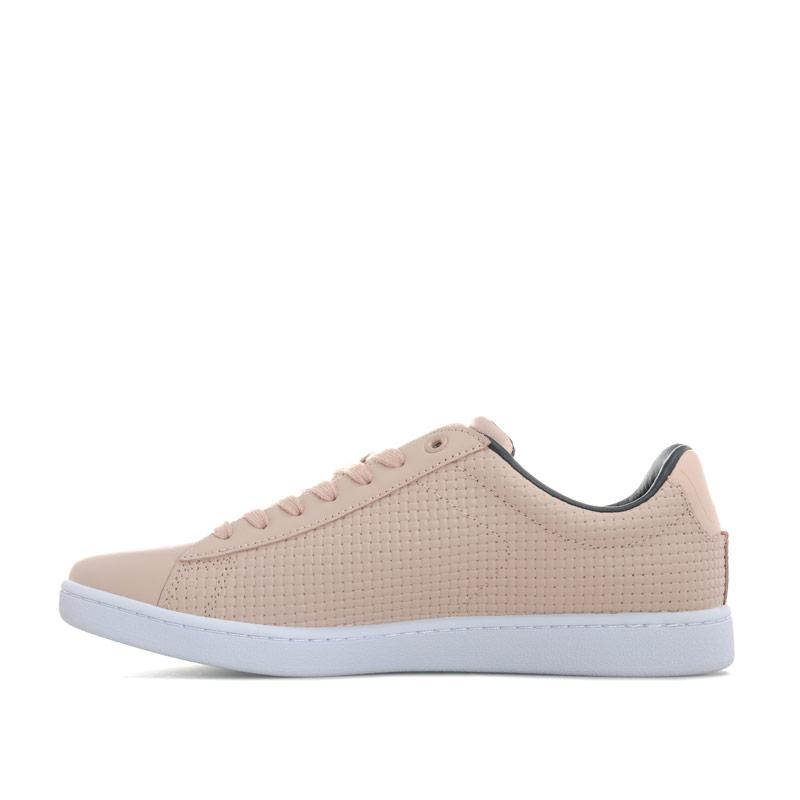 Lacoste Womens Carnaby Evo Woven Leather Trainers Natural