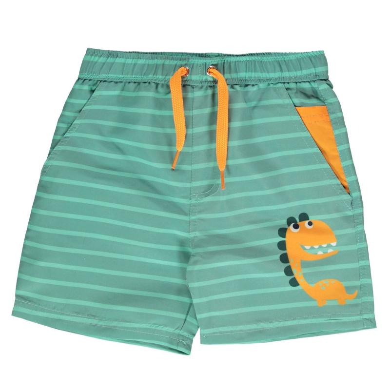 Plavky Crafted Essentials Board Shorts Child Boys Green Dino