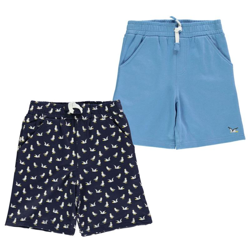 Kraťasy Crafted Essentials Pack of 2 Shorts Child Boys Blue Navy
