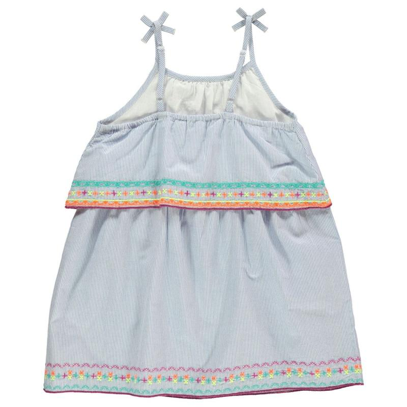 Šaty Crafted Essentials Waterfall Dress Infant Girls Blue / White