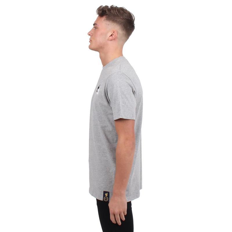 Tričko Gio Goi Flock Logo T Shirt Grey Marl