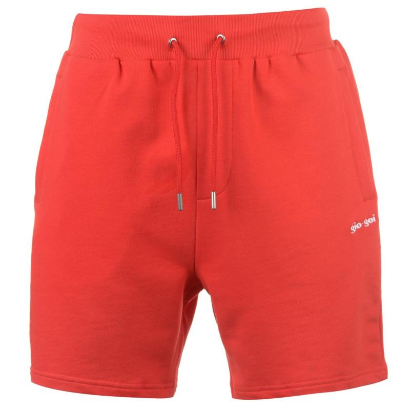 Gio Goi Loopback Shorts Red