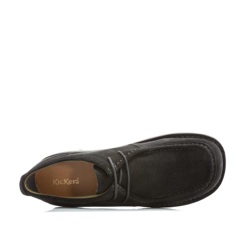 Boty Kickers Mens Kick Wall B Suede Shoes Black