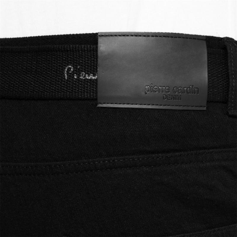 Pierre Cardin Web Belt Mens Jeans Solid Black