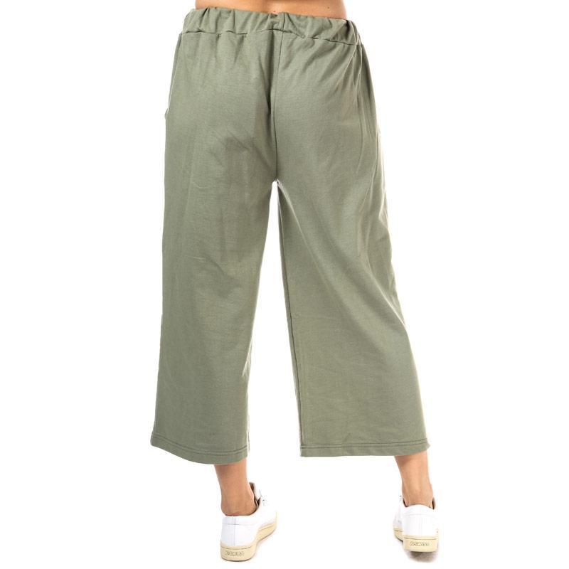 Kalhoty Daisy Street Womens Cropped Wide Leg Trousers Khaki