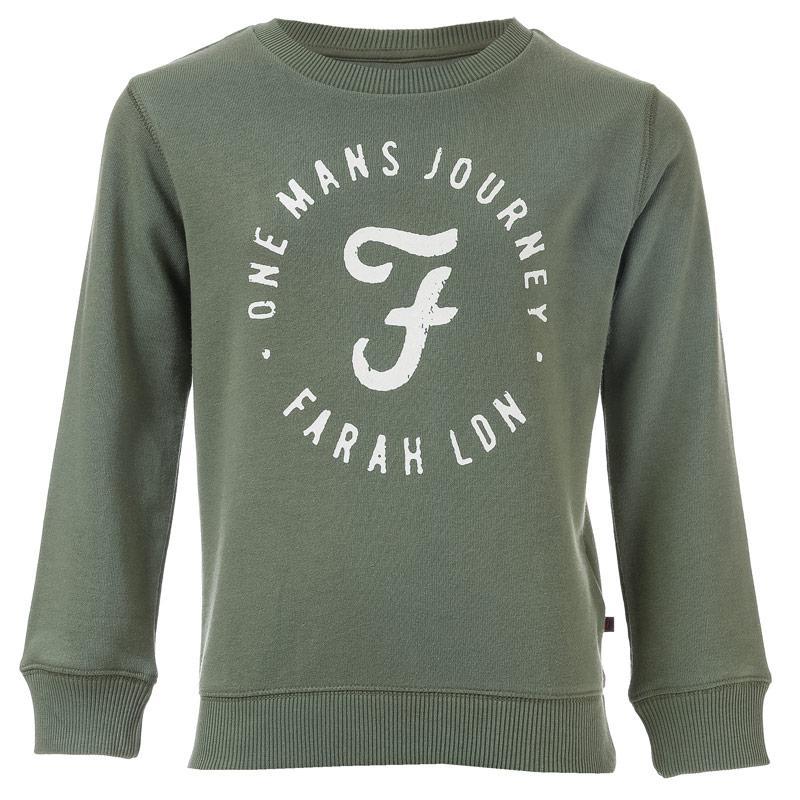 Farah Infant Boys Logo Crew Neck Sweat Green