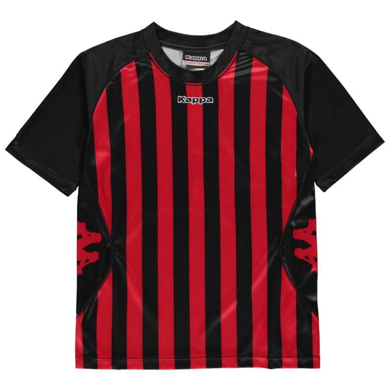 Tričko Kappa Barletta Short Sleeve T Shirt Junior Boys Red/White