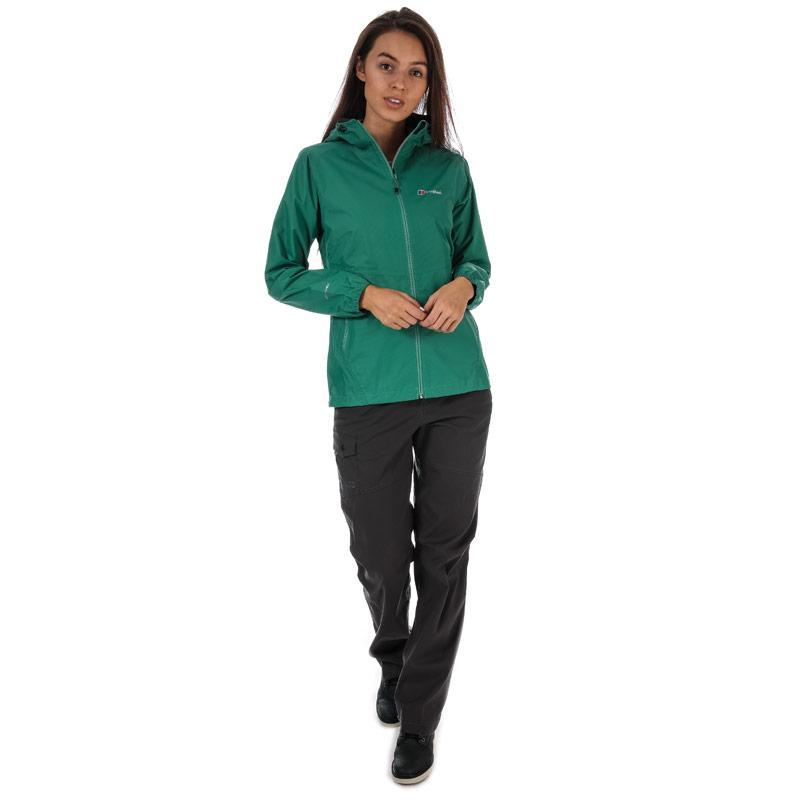 Berghaus Womens Deluge Light Waterproof Jacket Green