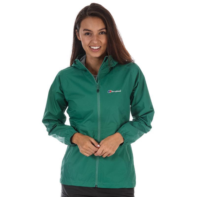 Berghaus Womens Deluge Light Waterproof Jacket Green
