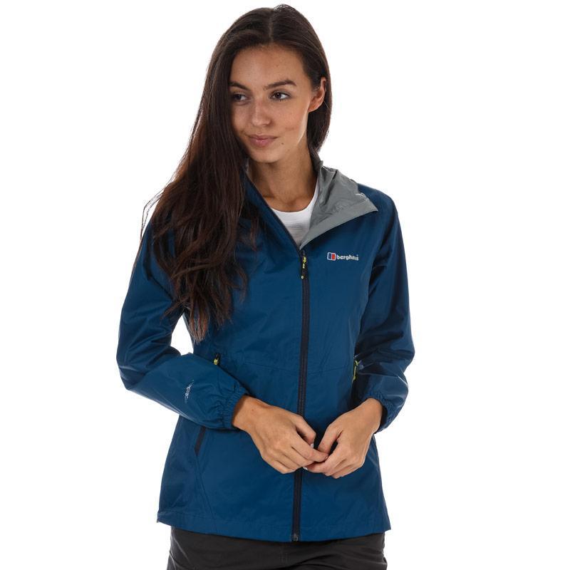 Berghaus Womens Deluge Light Waterproof Jacket Dark Blue