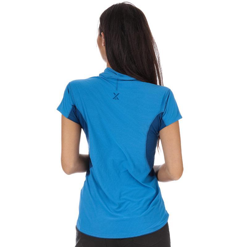 Berghaus Womens Super Zip Neck Tech T-Shirt Light Blue