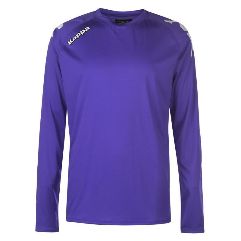 Tričko Kappa Veneto Long Sleeve T Shirt Mens Gentian Violet