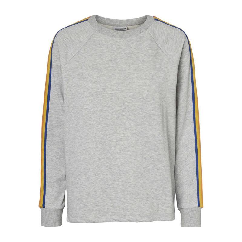 Mikina Noisy May Pamela Sweater Grey/Rainbow