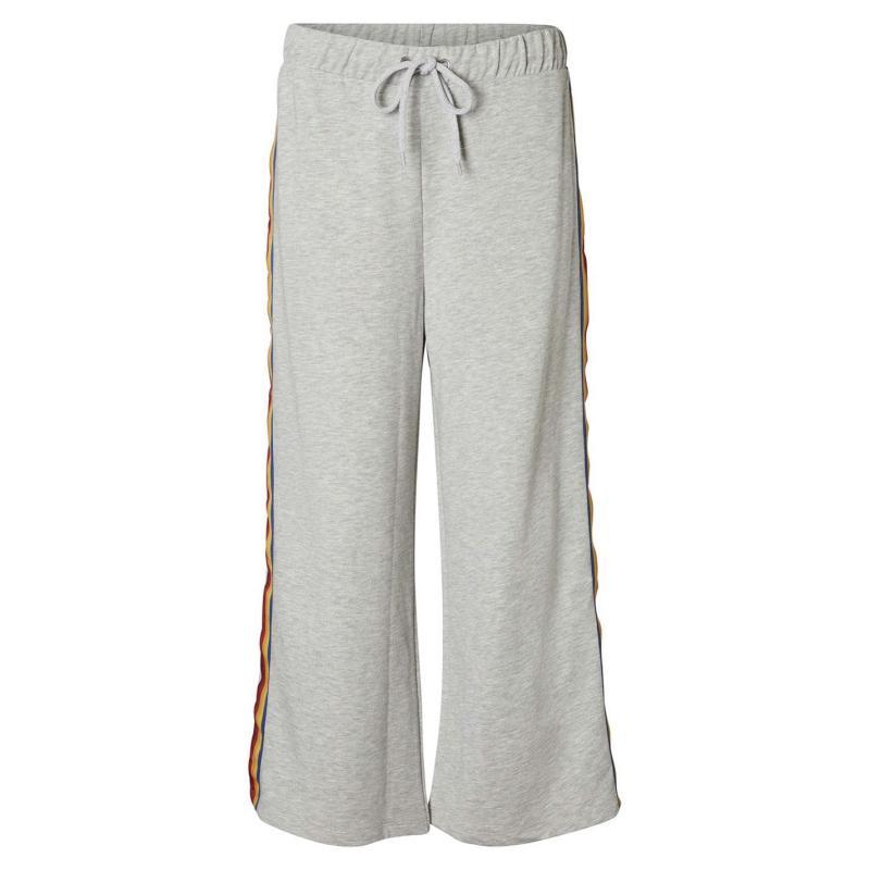 Sportovní kalhoty Noisy May Pamela Sweatpants Grey/Rainbow