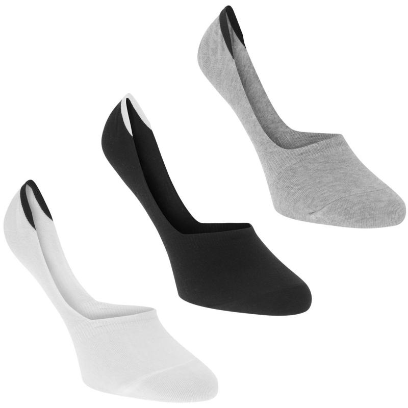 Ponožky Calvin Klein Invisible Socks 3 Pack Wht/Blk/Gry