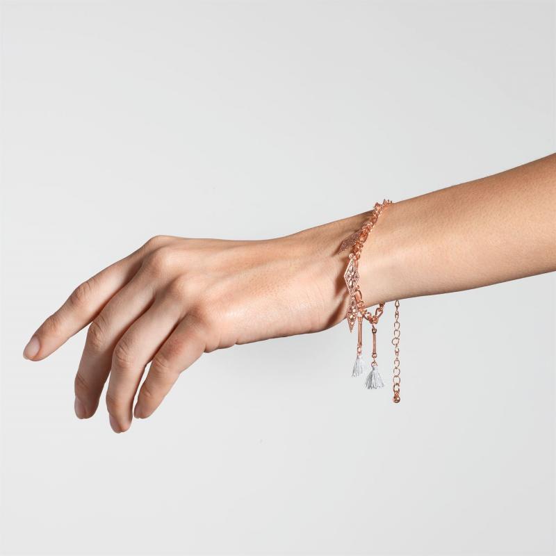 Firetrap Tassel Bracelet Ladies Rose Gold