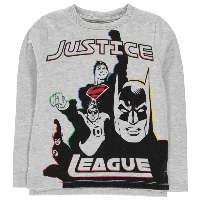 Tričko Character Long Sleeve T Shirt Boys Justice League