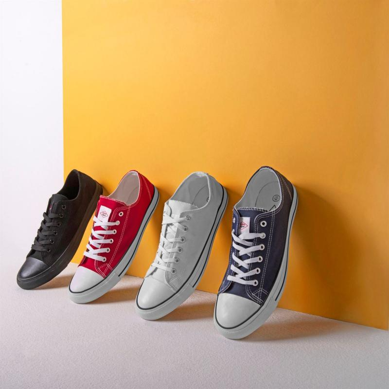 Lee Cooper Canvas Lo Shoes Mens Red