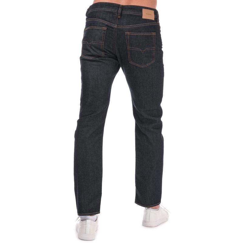 Diesel Mens Buster Regular Slim Tapered Jeans Blue
