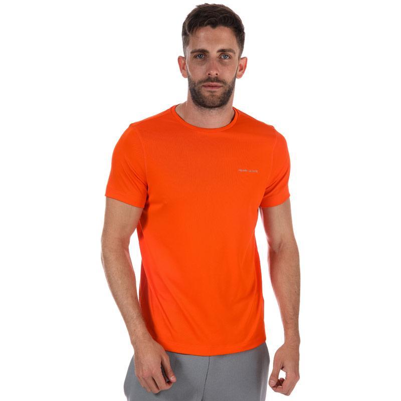 Tričko Henri Lloyd Mens Pace Short Sleeve Simple T-Shirt Orange