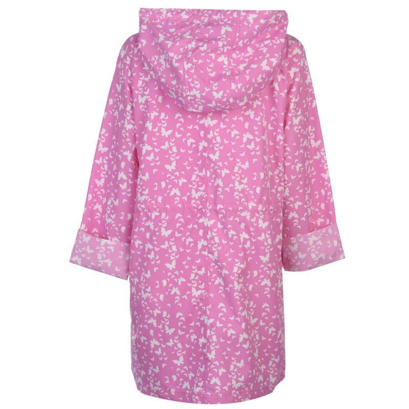 Miso Pack Away Rain Mac Ladies Purple Butterfl