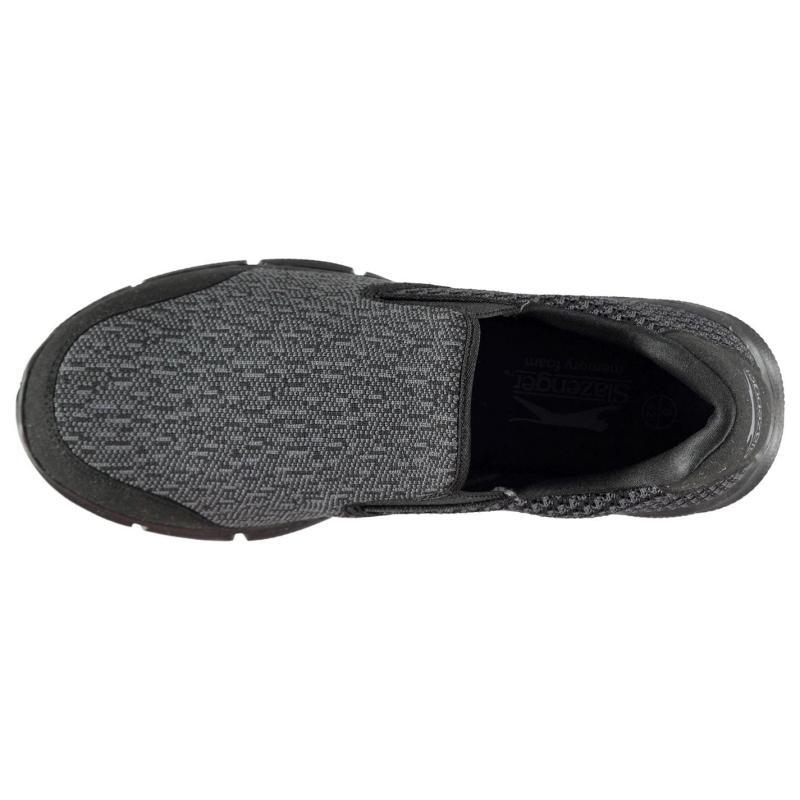 Slazenger Zeal Knit Mens Trainers Grey/Black