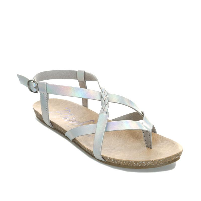 Boty Blowfish Malibu Womens Granola B Sandals Silver