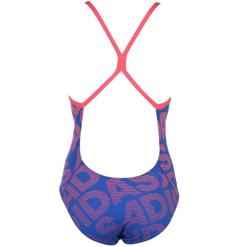 Plavky adidas All Over Print Swimsuit Ladies Real Pink