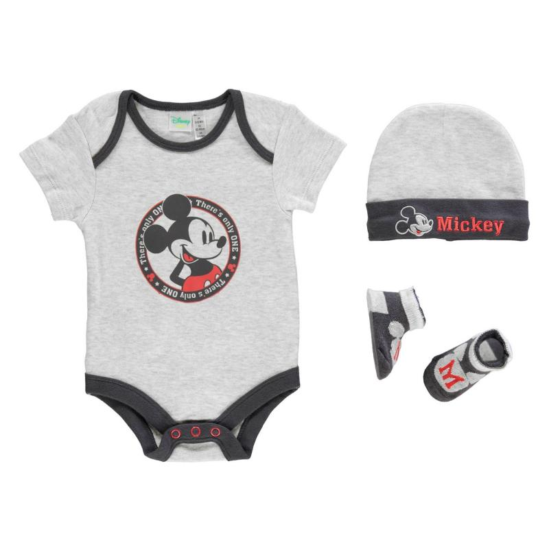 Pyžamo Character 3 Pack Romper Suit Set Baby Mickey Mouse