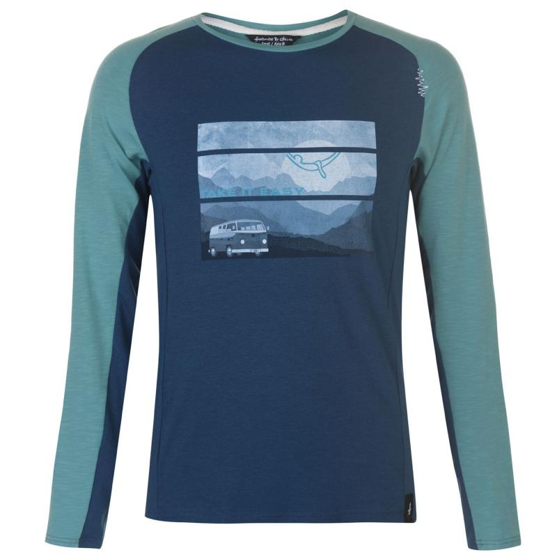Chillaz Krabi Take Your Time T Shirt Mens Blue