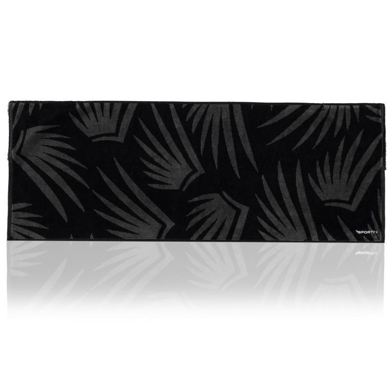 SportFX Gym Towel Black