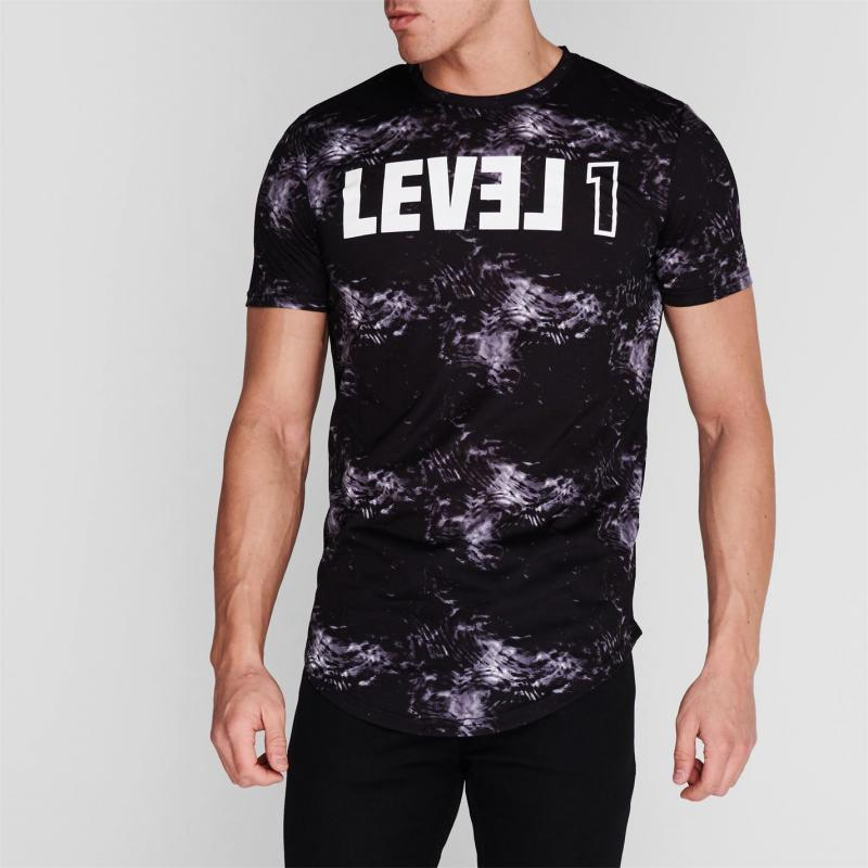 Tričko Level 1 Pennin T Shirt Mens Anthracite