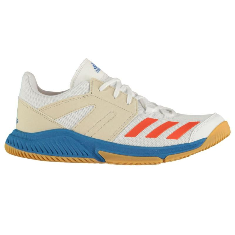 Adidas Essence Mens Squash Shoes White/Solar Red