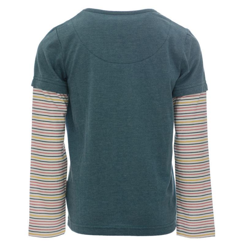 Horseware Girls Double Sleeve T Shirt Green/ Teal