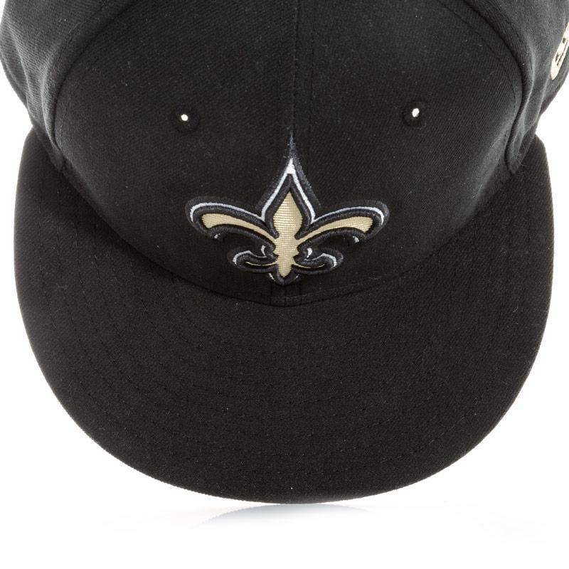 New Era Mens New Orleans Saints 5950 Cap Black