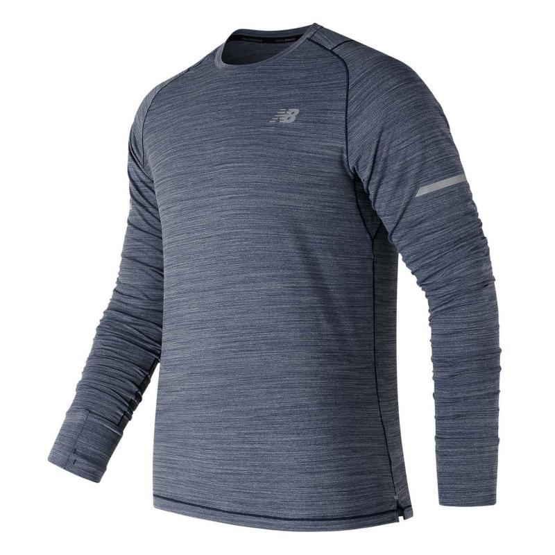 Tričko New Balance Seasonless Long Sleeve Performance Top Mens Grey