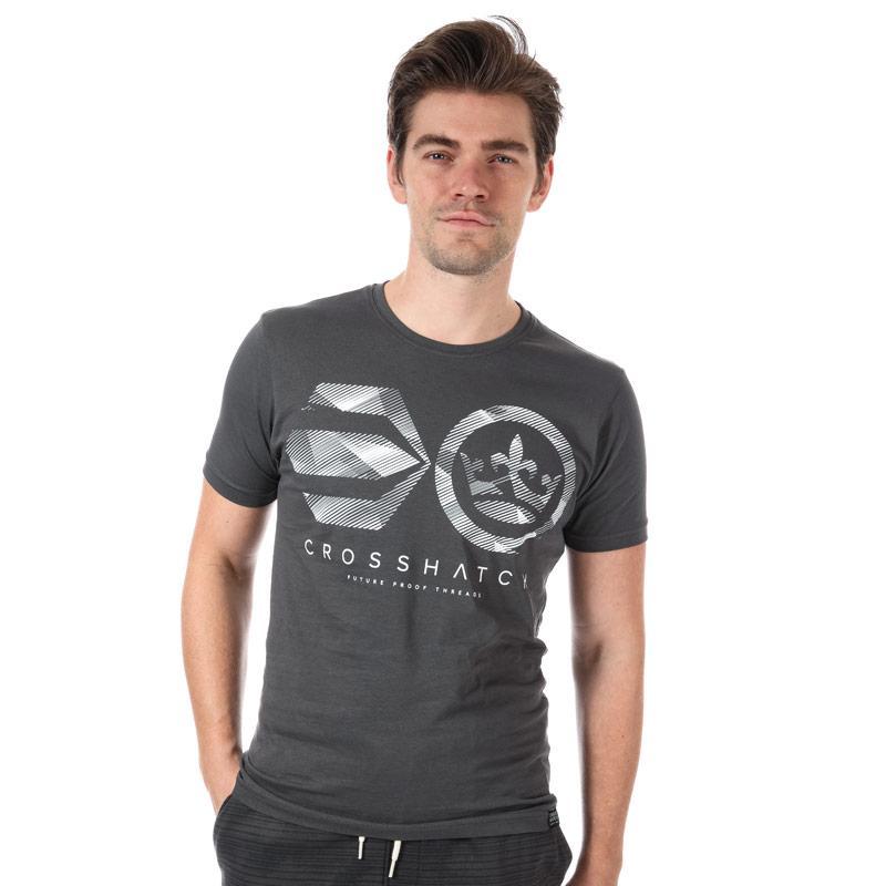 Tričko Crosshatch Mens Camoliner T-Shirt Charcoal