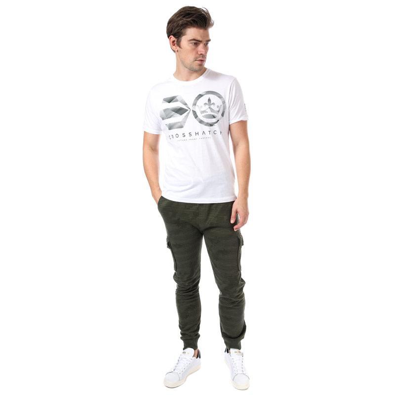 Tričko Crosshatch Mens Camoliner T-Shirt White
