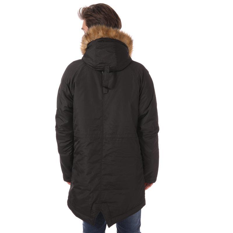NICCE Mens Fairfield Fishtail Parka Jacket Black