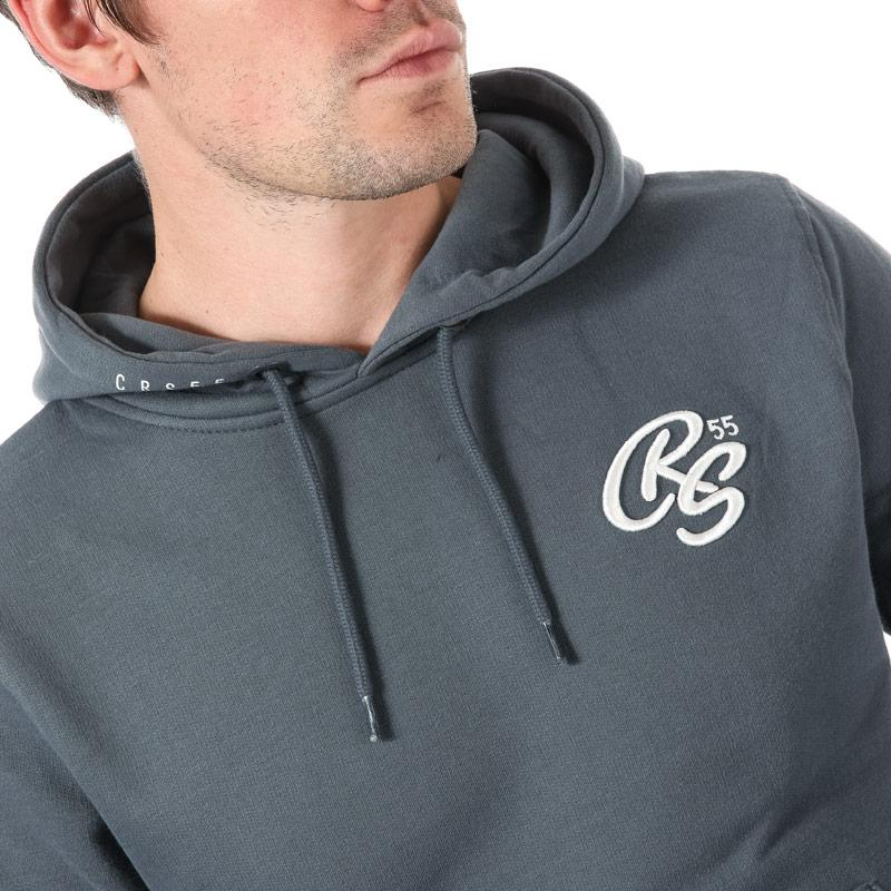 Mikina Crosshatch Black Label Mens Lawnton Hoody Blue