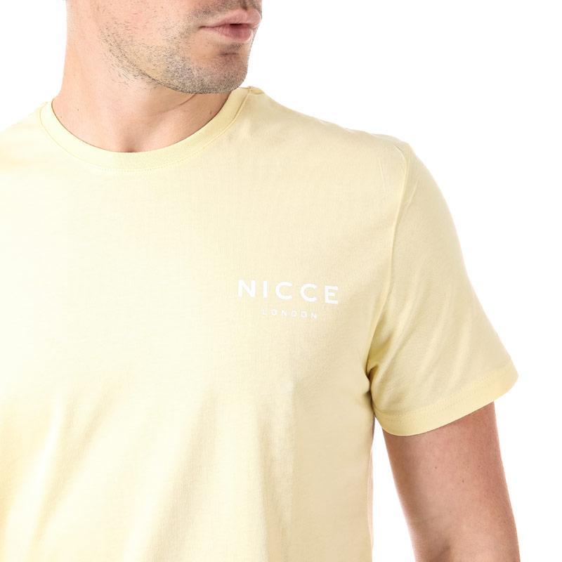 Tričko NICCE Mens Small Chest Logo T-Shirt Yellow