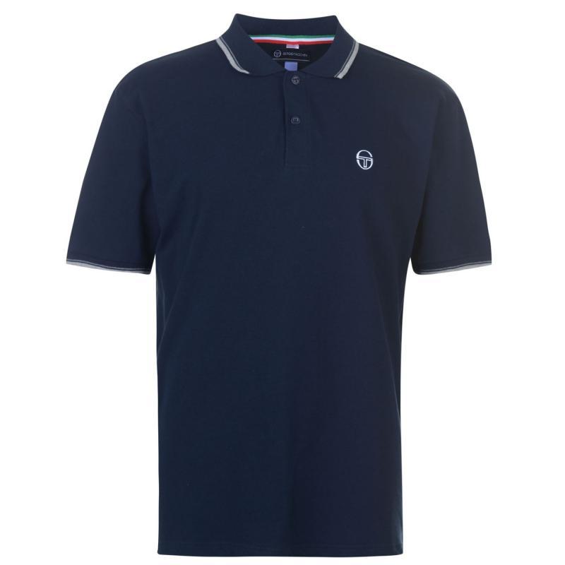 Sergio Tacchini Zuck Polo Shirt Mens Navy